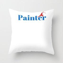 Top Painter Throw Pillow