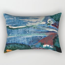 Mini World Environmental Blues 2 Rectangular Pillow