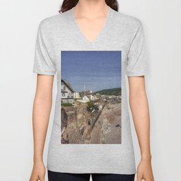 Sidmouth Summer Seascape  Unisex V-Neck