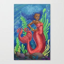 Sweetheart - MerMay Mermaid. Canvas Print