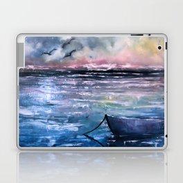 Coucher de soleil sur mer Laptop & iPad Skin