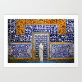 Persian silhouette Art Print