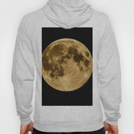 Full moon during night time Hoody