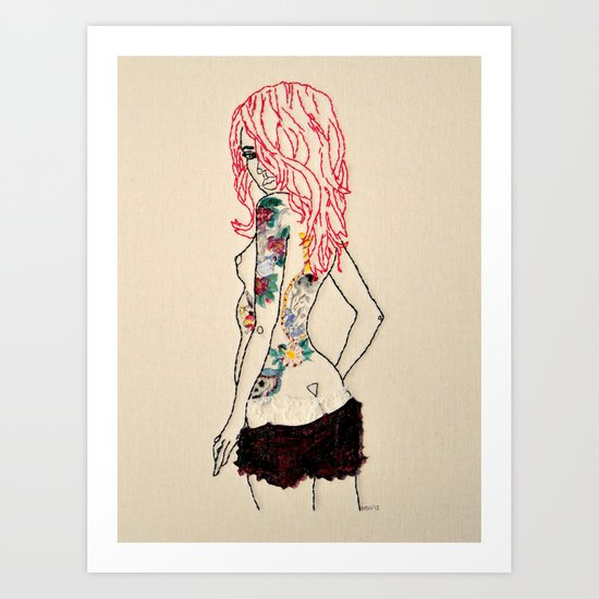 Lass Art Print