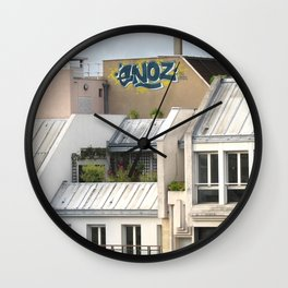 Rooftops of Paris 1 Wall Clock