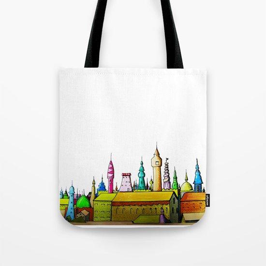 fabulous city painted Tote Bag
