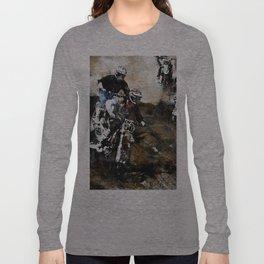 """Dare to Race"" Motocross Dirt-Bike Racers Long Sleeve T-shirt"