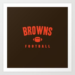 Browns Football Art Print
