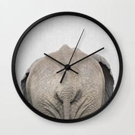 Elephant Tail - Colorful Wall Clock
