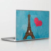 eiffel Laptop & iPad Skins featuring Eiffel by Daniela Marti