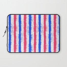 pink no blue bounding splatter stripes Laptop Sleeve