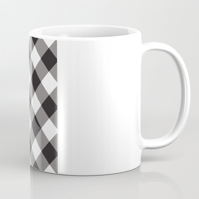 Gingham - Black Coffee Mug