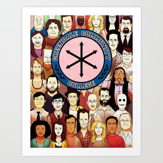 Greendale Human Beings Art Print