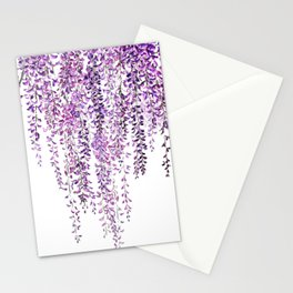 purple wisteria in bloom Stationery Cards