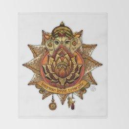 Keep Korma and Curry On Throw Blanket