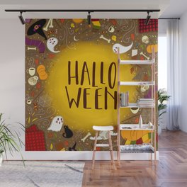 Halloween Spooky Lettering Wall Mural