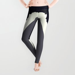 Contemporary Minimalistic Black and White Art Leggings