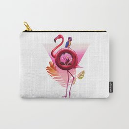 Flamingo Rider Carry-All Pouch