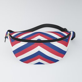 UK Union Jack Red White and Blue Jumbo Chevron Stripes Fanny Pack