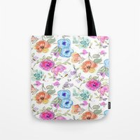 bees Tote Bags featuring bees by Ariadne