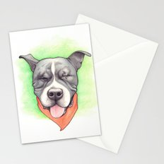 Pitbull - Love is blind - Stevie the wonder dog Stationery Cards