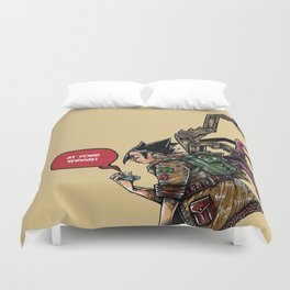 Gadget are girl bestfriend Duvet Cover