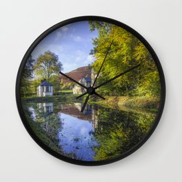 The Autumn Pond Wall Clock