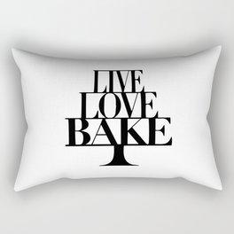 Live love bake Rectangular Pillow
