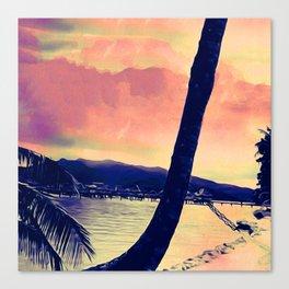 Tempest Island (Warmer Version) Canvas Print