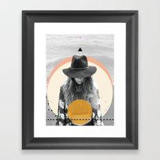 Sun Girl Framed Art Print