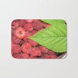 Raspberries Bath Mat