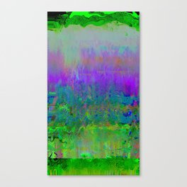 #7743 (green rainbow glitch) Canvas Print
