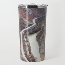 Beautiful picture of the canyon in Serbia. Dramatic sky and mountains Travel Mug