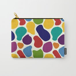 Rainbow Giraffe Splotches Carry-All Pouch