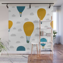 Scandia Balloons and Clouds Wall Mural