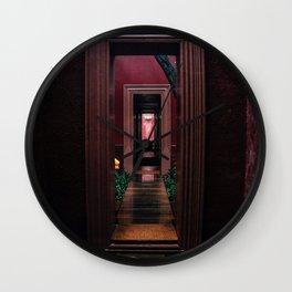Take The Purple Door Wall Clock