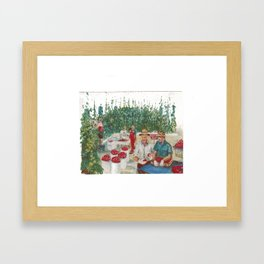 Tomato Growers,Australia             by Kay Lipton Framed Art Print