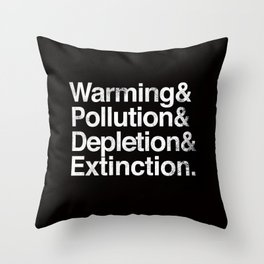 Ecology Issues Throw Pillow