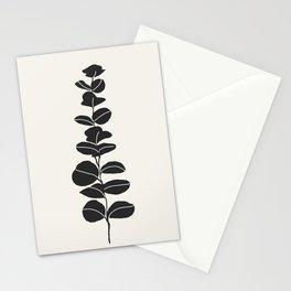 Minimal Eucalyptus Line Art Stationery Cards