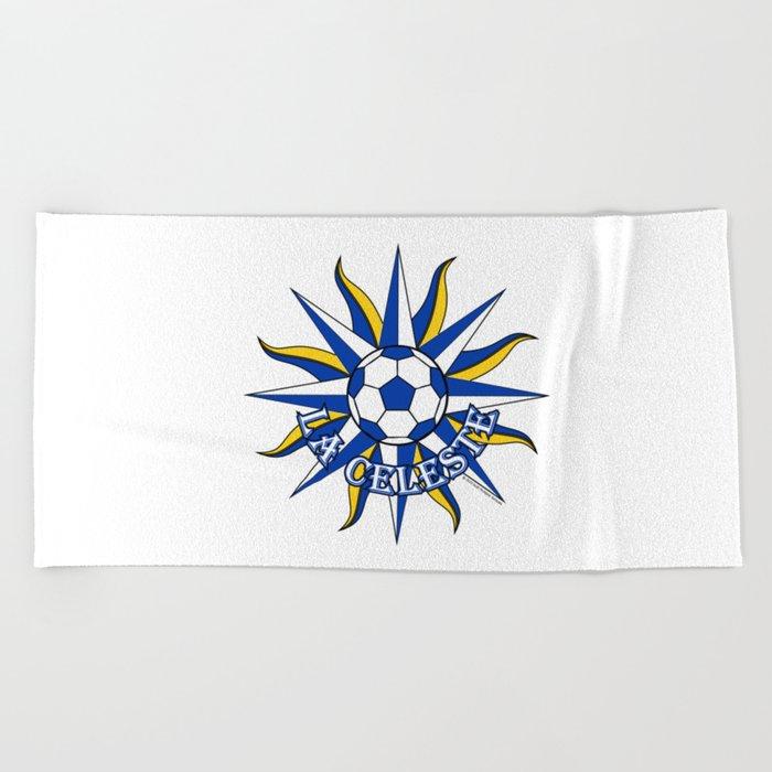 Uruguay La Celeste (The Sky Blue) ~Group A~ Beach Towel