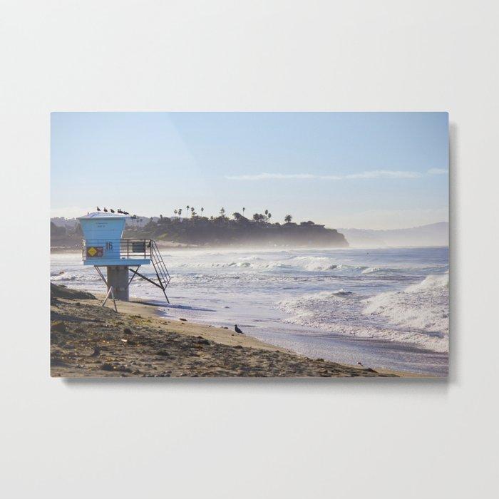 Lifeguard Tower on the Beach Metal Print