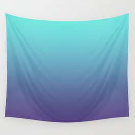 Ultra Violet Teal Ombre Gradient Pattern | Trendy color of the Year 2018 Wall Tapestry