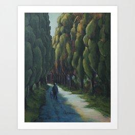 Poplar Road Art Print