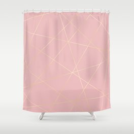 Blush pink & gold Shower Curtain