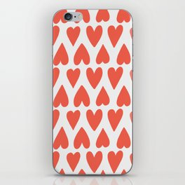 Shapes Nr. 4 - Red Hearts iPhone Skin