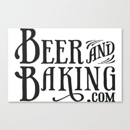 Beer and Baking Logo Canvas Print