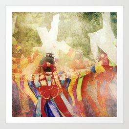 "culture Photography ""KOREAN DANCER""  tradition Corea korea asian hanbok dress dancer musician Art Print"