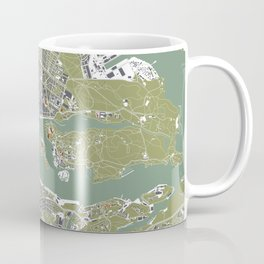 Stockholm city map engraving Coffee Mug