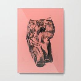 Jeans on pink Metal Print