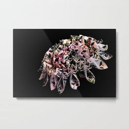 Entrapment Neon Metal Print